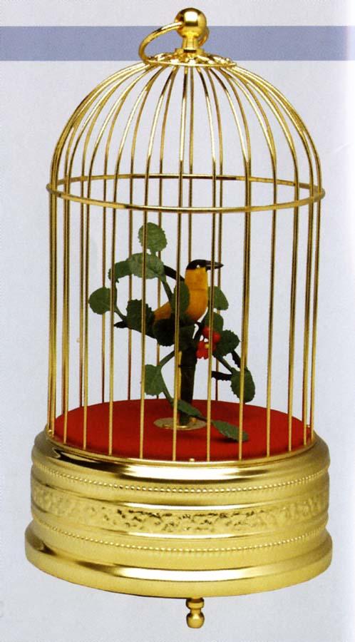 MECHANISCHER SINGVOGEL AUTOMAT SINGING BIRD FIGURENAUTOMAT MIT STIMMME S