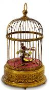Reuge Singing Bird in Antiqued Cage - New