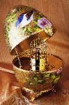Faberge Singing Bird Imperial Musical Egg - exquisite!